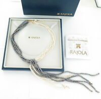.Stunning Handmade Rajola 18ct Yellow Gold & Freshwater Pearl Statement Necklace