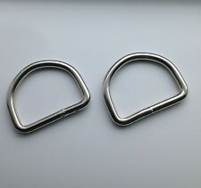 Quality 50mm Welded Metal D Rings Fastening packs 1,2,10,50