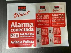 Stiker, Decal, Pegatinas Disuasorias de Alarma Securitas Direct. Modelo 2015