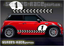 Mini Cooper S Works side racing stripes 016a vinyl stickers decals graphics