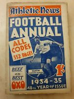 ATHLETIC NEWS FOOTBALL ANNUAL 1934-35  48th year of Issue Edited by Ivan Sharpe