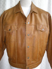AIRBORNE LEATHERS RAWHIDE LEATHER INSULATED JACKET SIZE L RARE $379