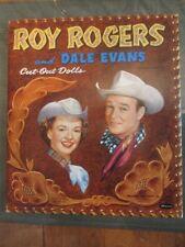 1956 Roy Rogers & Dale evans Cut-Out Paper Dolls -Original- Excellent -Complete