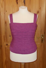 JACQUES VERT purple layered ra-ra party corset camisole vest tunic top 18 44