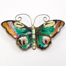 DAVID ANDERSEN LARGE ENAMEL NORWEGIAN BUTTERFLY BROOCH