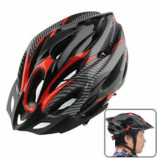Cycling Bicycle Helmets Type Adult Road Red carbon Visor Protection Helmet