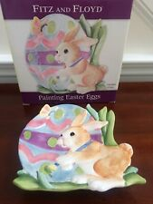 Fitz & Floyd Bunny Easter Rabbit Painting Easter Eggs Ceramic Plate