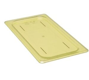 Cambro High Heat 1/3 Gastronomy Food Pan Lid Polycarbonate  in Amber 30 HPC 150