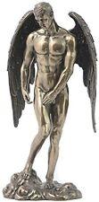 """WINGED MALE NUDE Angel Cold-Cast Bronze Statuette, 11.25"""", Unicorn Studio"""