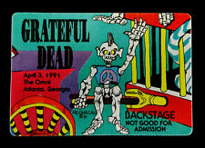 Grateful Dead Backstage Pass Puzzle Train Reonegro Omni Atlanta 4/3/91 4/3/1991