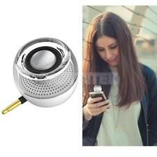 Mini Speaker 3.5mm Aux Audio Jack Plug Wireless Speaker for Phone PC Silver