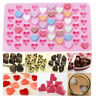 Silicone Mini 55 Heart Cake Chocolate Cookie Baking Mould Mold Jelly Sweets Tray