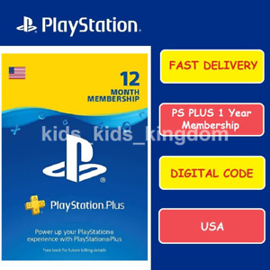 Sony PlayStation PS Plus 12 Months / 1 Year PSN Membership Subscription