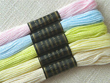 Embroidery Cross Stitch Thread Floss Stranded Cotton ~ New Baby Pastels Ref.13