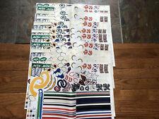 1970 's Laich Nfl Plastic Mini Football Helmet Ice Cream Cups Sticker 11 Sheets
