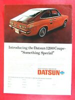 """1971 Datsun 1200 Coupe INTRODUCING Something Special Original Print Ad 8.5 x 11"""""""