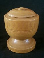 Vintage hand turned wood lidded jar