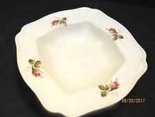 "ROSENTHAL ""IVORY ROSE"" SANSSOUCI SHAPE VEGETABLE BOWL (SQUARE) DISCONT 1996"