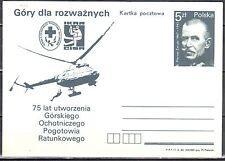 Poland 1984 - Volunteer Mountain Rescue Service -  Fi. 888 -  postcard - unused