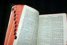 Antique POCKET Holy Bible.. old & new, 'FOR CHURCHES', black leather, EDGE INDEX