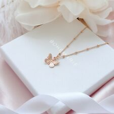 Rose Gold Plated Butterfly Necklace, Dainty Boho Necklaces, Necklaces For Women