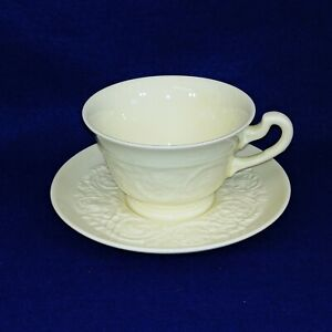 Wedgwood Teacup Saucer Patrician Pattern Porcelain Ivory Collectible Vintage