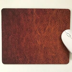 Mouse Mat,Pad laptop desktop office Leather Look made in UK choose size
