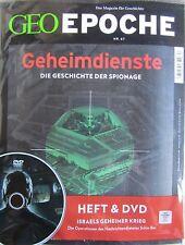 Geo Epoche Geheimdienste Heft mit DVD Nr. 67