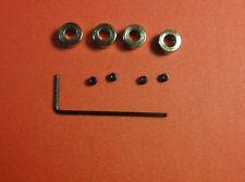 """Du-Bro 141 3/16"""" Plated Brass Dura Collar W/Allen Wrench"""