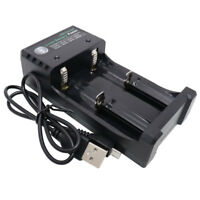 18650 USB Battery Charger Smart Li-ion Rechargeable 2 slots Plug for 10440 26650