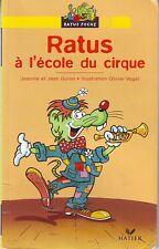 Ratus à l'école du cirque RATUS JAUNE n° 26  * CP * GUION  * Apprendre à lire