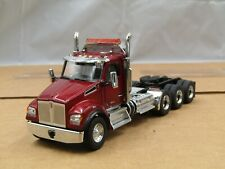 Diecast Master ruby red Kenworth T880 4 axle daycab tractor 1/50 new no box.