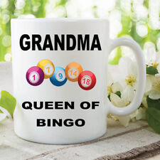 Bingo Mug Grandma Queen Of Bingo Mothers Day Gift Birthday Coffee Cups WSDMUG608