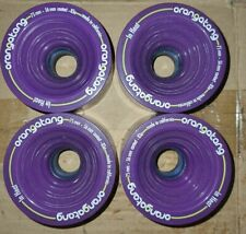 Orangatang In Heat longboard skateboard wheels 75mm purple 83A Happy Thane
