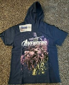 Marvel Avengers Infinity War Boys SS Hoodie Size Medium (10-12)
