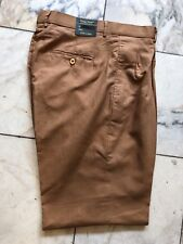 NWT Giorgio Inserti  PLEATED 100% LINEN CAMEL COLOR PANTS MENS SIZE 40