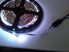 300 Bright White LEDs 16ft long Flexible Tape Strip Light DIY Boat House Caravan