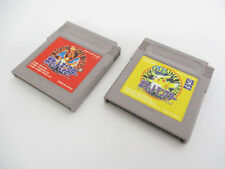 Game Boy Lot of 2 POKEMON RED PIKACHU Yellow SET GB Pocket Monsters Cart gbc