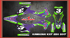 2017 KAWASAKI KX250 KX 250F CUSTOM  GRAPHIC KITS RETRO