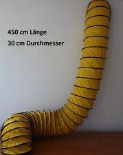 4,5 Meter 30 cm Entlüftungsschlauch Abluftschlauch Flexrohr Leitung Klimatechnik