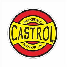 Castrol Gasoline Oil Hard Hat Sticker Decal Funny Danger Motorcycle Car Decor