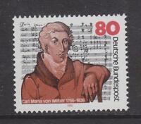 1986 WEST GERMANY MNH STAMP DEUTSCHE BUNDESPOST  CARL MARIA VON WEBER  SG 2132