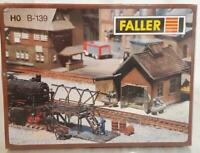 MINT SEALED FALLER B-139 120139 HO  - LOCOMOTIVE BOILER MAINTENANCE DEPOT SET