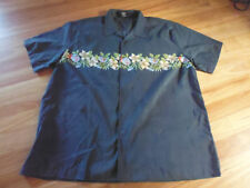 MEN'S BLUE FLORAL POLYESTER SHORT SLEEVE CASUAL SHIRT BY LOWES - SIZE 6XL CHEAP