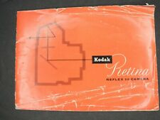 Kodak Retina Reflex Iii Camera Instruction Book / Manual / User Guide