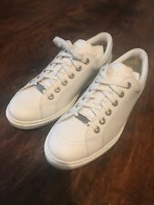 9b58b3c45b6 Y60 Jimmy Choo Cash Ultra White Leather Lace Up Sneakers Mens Size 43