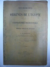J. DE MORGAN RECHERCHES SUR LES ORIGINES DE L'EGYPTE T. II 1897 LEROUX RARE BE