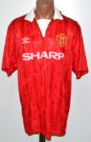 MANCHESTER UNITED 1992/1993/1994 HOME FOOTBALL SHIRT JERSEY UMBRO SIZE XL ADULT
