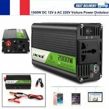 ONEVER 2000W Voiture Power Onduleur DC 12V à AC 220V Convertisseur chargeur USB