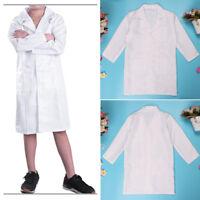 Kids Lab Coat Boys Girls Scientist Doctor Dr. Costume Nurse Fancy Dress up Party
